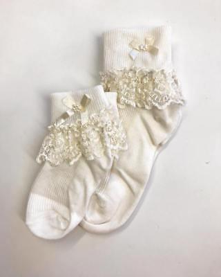 BABY GIRL FRILLY SOCKS CHRISTENING WEDDING SPECIAL OCCASION FRILLY SOCKS