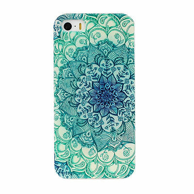 Floral Pattern Slim Soft TPU Silicone Gel Case Cover Back For Various Phone