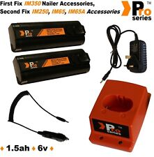 2xProSeries Batteries for Paslode IM350 +Wall Charger+Base+In Car Charger