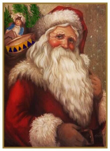 Victorian Father Christmas Santa Claus Angel #82 Counted Cross Stitch Pattern