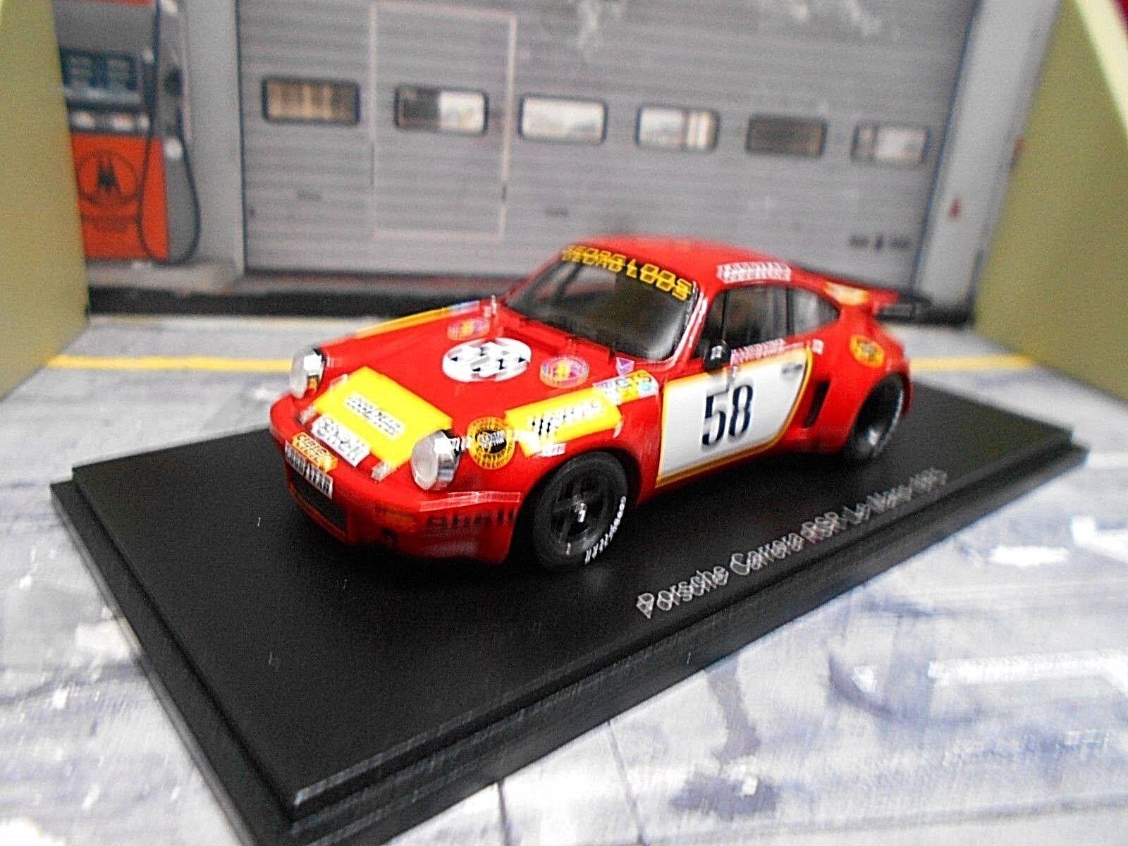 PORSCHE 911 Carrera RSR 3.0 Le Mans 1975 cancellata Loos  58 SCHURTI fitzpa SPARK 1 43