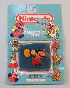 1989-Nintendo-Collector-Pin-Mario-w-Hammer-Sealed-NIB-ACE-Series-A-5-NES-era