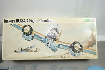 Süß GehäRtet Frog Junkers Ju.88a-4 Fighter / Bomber Flugzeug Plastik Modellbausatz 1:72 (k41