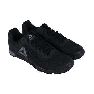 Reebok-Speed-Tr-Flexweave-Mens-Black-Nylon-Athletic-Training-Shoes
