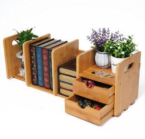 b cherregal tischorganizer schreibtisch bambus mit 2 schubladen rg9258br ebay. Black Bedroom Furniture Sets. Home Design Ideas