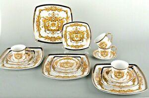 16-Piece-Euro-Porcelain-Medusa-Fine-Bone-China-Dinner-Set-Service-for-4-White