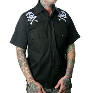 Kreepsville-666-Harlock-Skull-X-Bones-Western-Punk-Goth-Mens-Tee-Shirt-MSWHSXB