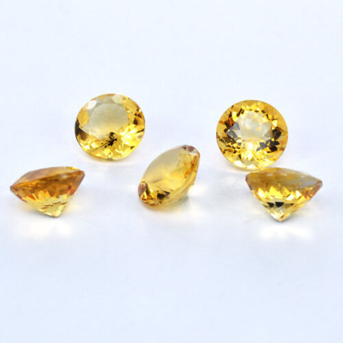 10x10mm Round Faceted Cut Natural CITRINE Loose Gemstones Wholesale Lot 3x3mm