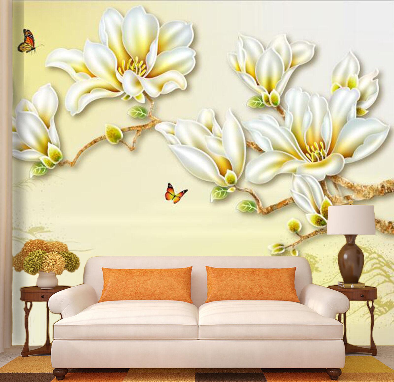 3D Flowers Theme 75 Wall Paper Murals Wall Print Wall Wallpaper Mural AU Summer