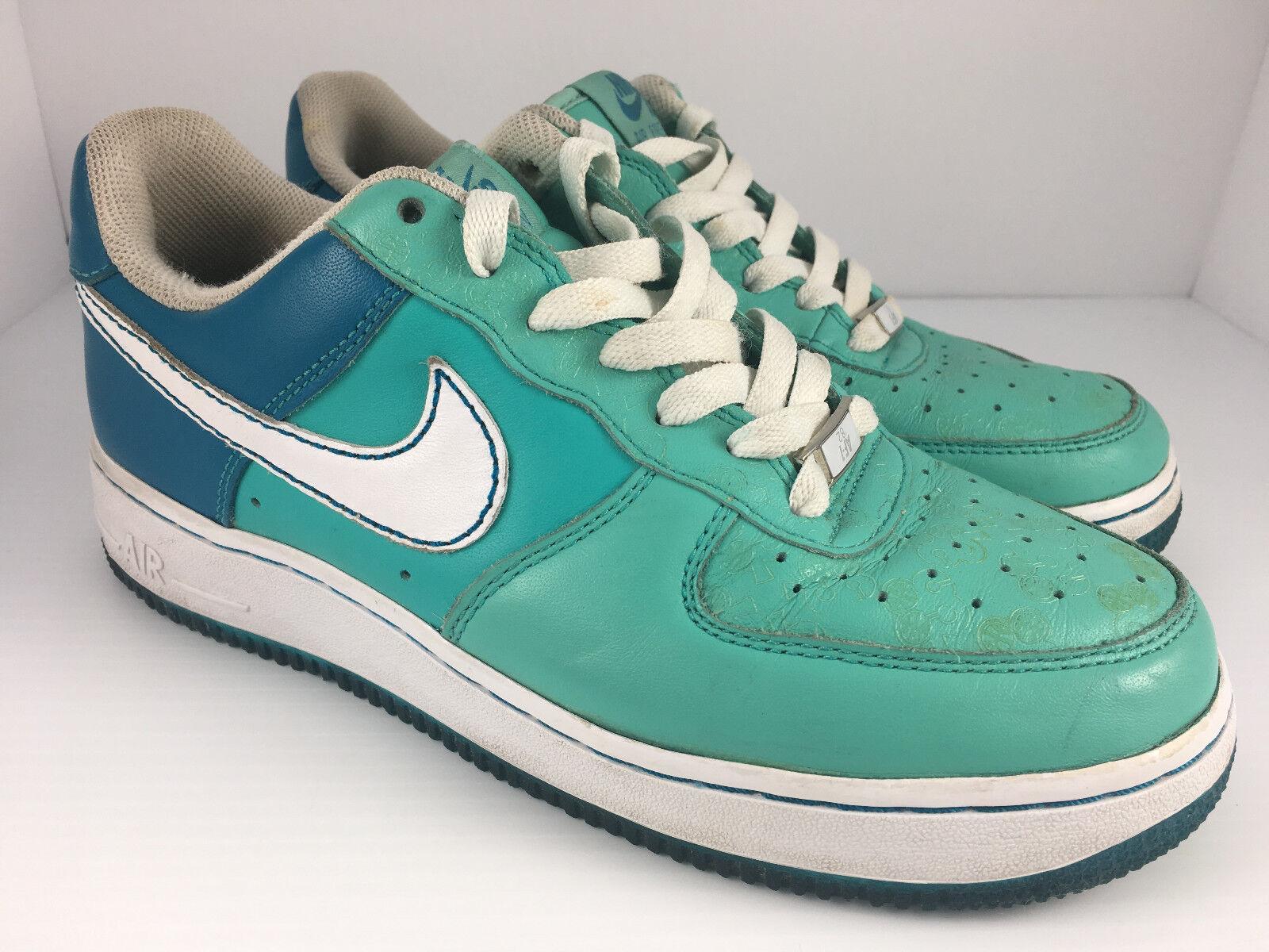 Nike Air Force XXV 25 Men US 8.5 Azure + Teal Cloverdale Park Shoes 315115-
