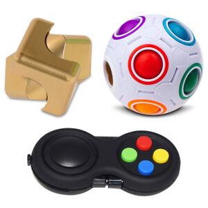1 x Fidget Pad 1 x Fidget Cube 3 Piece Sensory Fidget Kit 1 x Puzzle Ball