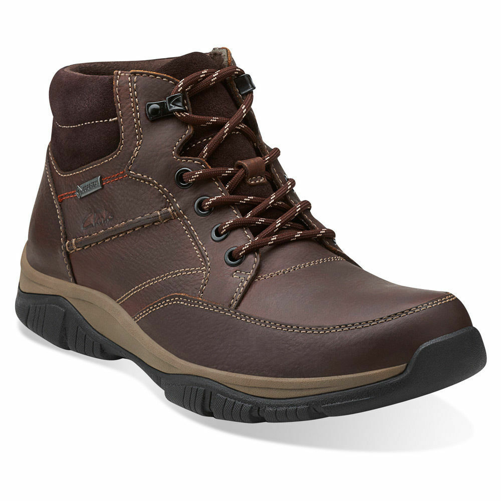 Clarks Rampart Mid GTX Men's Leather Waterproof Hiker GORE-TEX Boots  26103903