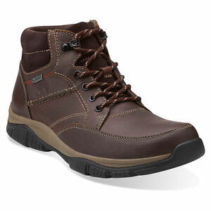 Details about Clarks Rampart Mid GTX Men's Leather Waterproof Hiker GORE TEX Boots 26103903