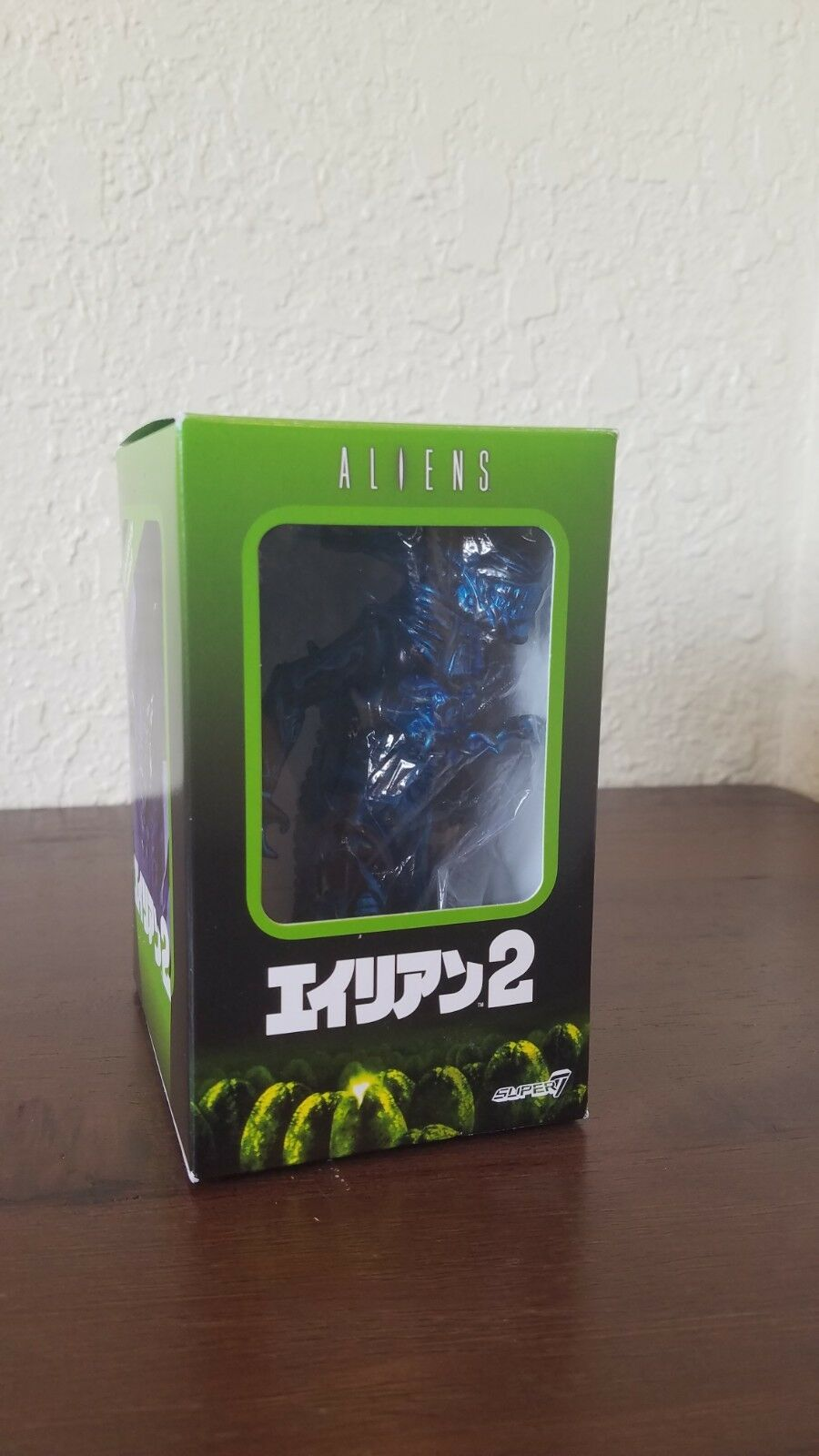 SDCC 2017 Super7 Metallic Blau Mayhem Alien Queen Japanese Vinyl Aliens Figure