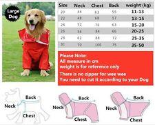 Large Dog rain coat waterproof outdoor hoodie golden Labrador Huskey Samoyed
