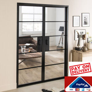 the latest 36d18 7b8ed Details about Industrial Style Interior Double Doors