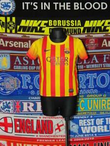 the latest fbc76 6761d Details about 5/5 Barcelona boys 3/4 years MINT football shirt jersey  trikot soccer Barca