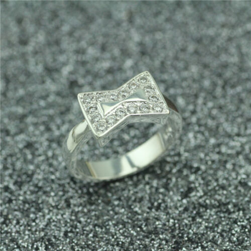 925 Solid Sterling Silver Plated Women//Men NEW Fashion Ring Gift NEW HJ185