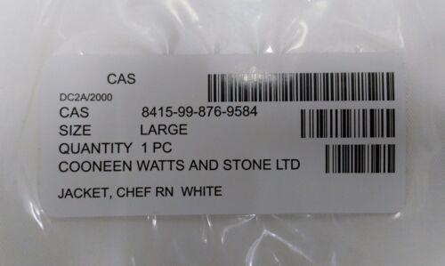 All Sizes Genuine British Royal Navy Chefs Whites Top Neckerchief /& Hat Set