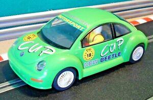 Scalextric-1-32-C2299-Verde-VW-Volkswagen-Escarabajo-Taza-Racing-Con-Luces