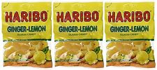 Haribo Ginger Lemon Gummi Candy 4 oz Bag ( 3 bags )