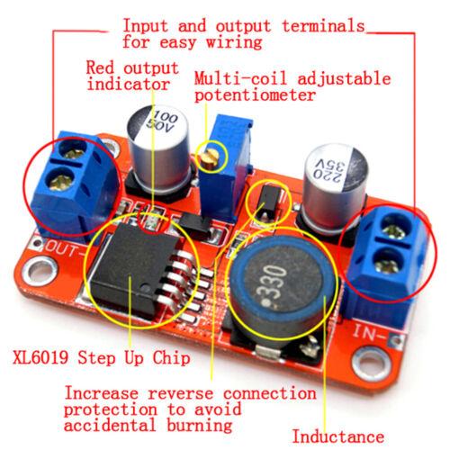 5A DC-DC step up power module boost volt converter3.3V-35V to5V 6V 9V 12V 24V TC