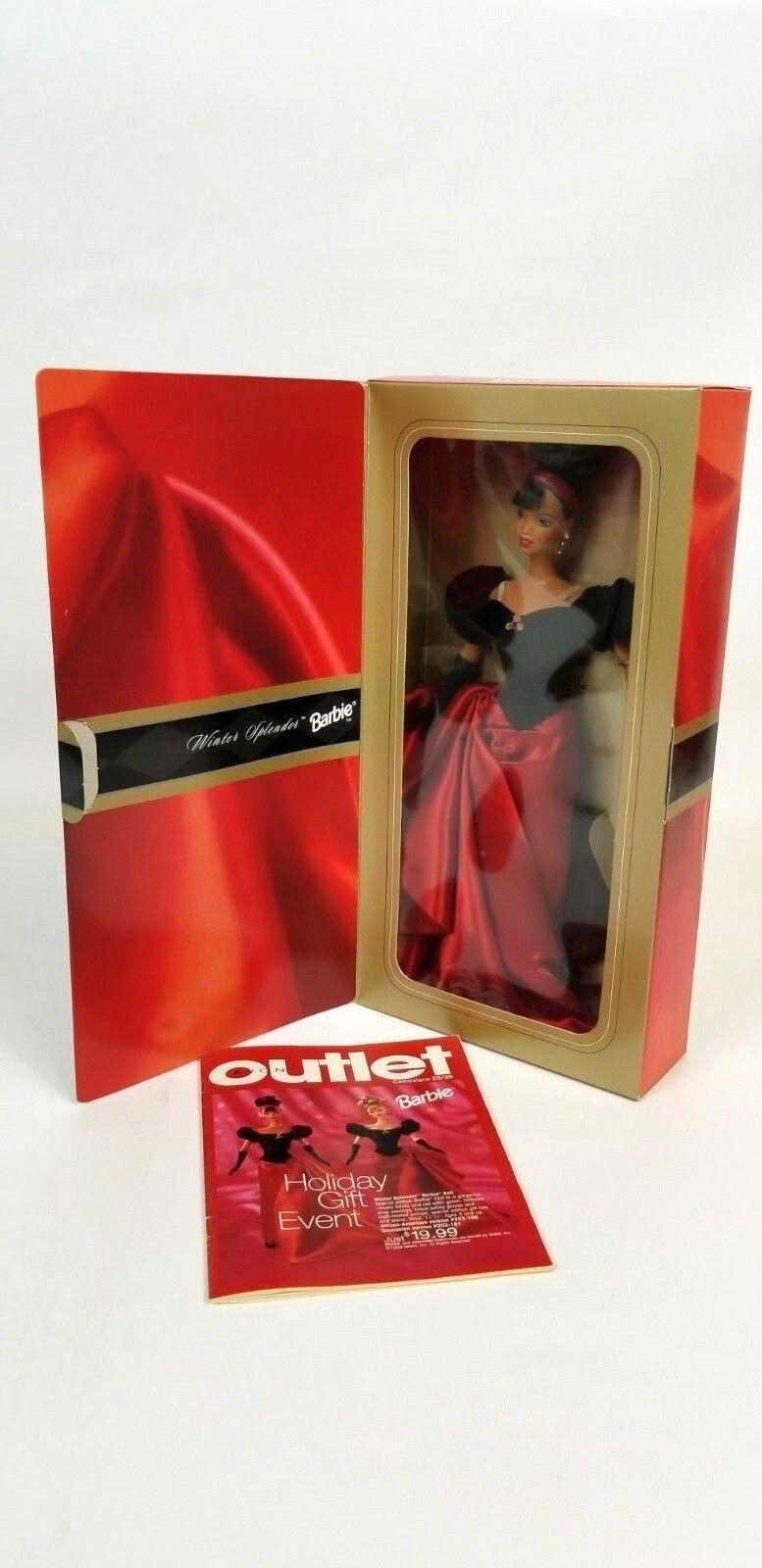 Barbie Avon catálogo exclusivo de invierno esplendor afroamericano Barbie nunca quitado de la caja