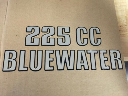 Single Key West Boats Domed 225 CC Bluewater Decal