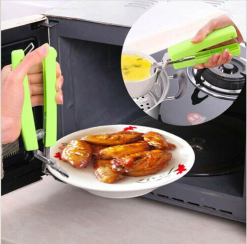 Bowl Clip Pot Gripper Hot Plate Pan Stainless Steel Dish Clamp Kitchen Holder