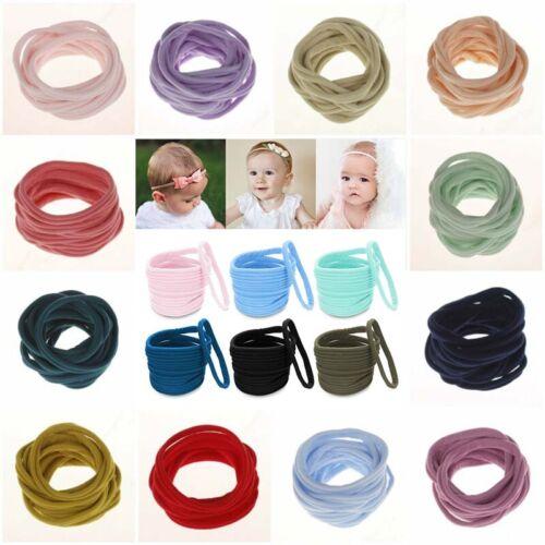 10Pcs Soft Nylon Hairband Head Band DIY Elastic Headband for Baby
