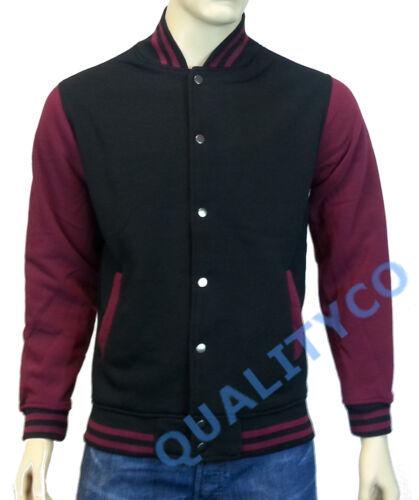 USA Size Letterman Varsity Baseball Black Jacket S-2XL US Men/'s Sweatshirt
