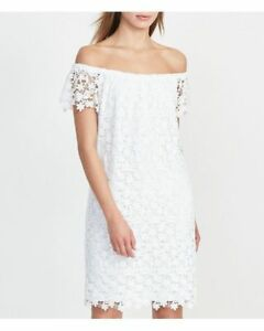 b1ff4e833425 Image is loading Ralph-Lauren-250661728002-White-Floral-Lace-Off-Shoulder-