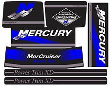 MERCRUISER THE NEW BLUE 2017 BRAVO TWO ORIGINAL COLORS  W/BLUE RAMS STICKER SET