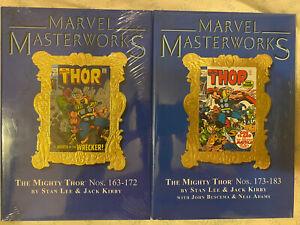 Marvel Masterworks THOR vols 8, 9 (112, 146) set SEALED 1st ed RARE variants!