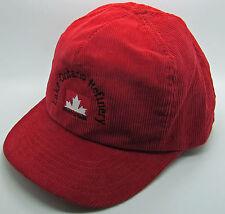 Lake Ontario Refinery Petro Canada  Trucker Hat Baseball Cap Red Corduroy Oil