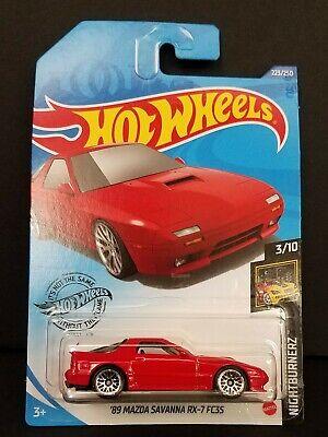 2020 Hot Wheels RED /'89 Mazda Savanna RX-7 FC3S nightburnerz 223//250 moc 3//10