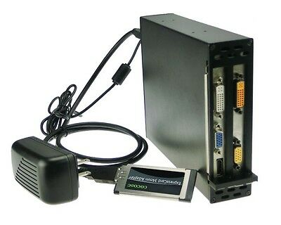 Expresscard 34 To 2 PCI Express 16x slots adapter Laptop to PCI-e 1x 4x 8x 16x