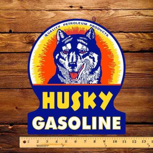 """Husky Gasoline 10/"""" x 12/"""" Die Cut Keyhole Decal"""