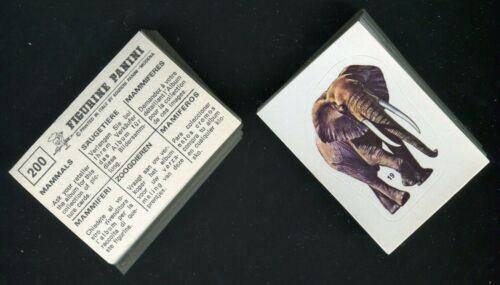 """/"""" ANIMAL TRADE CARDS PICK YOUR STICKER CARD PANINI 1976 /""""MAMMALS 1 TO 200"""