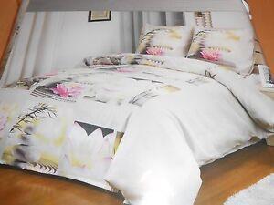 parure-de-lit-housse-de-couette-taies-2-personnes-034-fleur-de-lotus-034-neuve