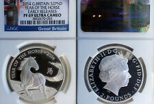 Gt. Britain 2014 2 Pounds, Scarce, Year of The Horse, Proof NGC Ultra Cam Prf 69