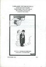 EO DEUX CATALOGUES SIGNÉS + CACHETS CONSACRÉS À GEORGES SIMENON ( 1994 & 2005 )