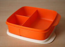 Tupperware Lunch Square Divided Packette Lunch Box  Tangelo  New