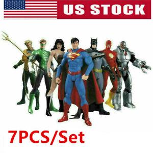 7Pcs-DC-Justice-League-7-034-Action-Figure-Superman-Batman-Flash-Wonder-Woman-USA
