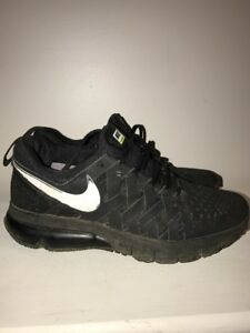 purchase cheap 31836 92107 Image is loading NIKE-Fingertrap-Air-Max-Amp-Black-Training-Sneakers-