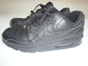Details about Nike Air Max 90 Running Shoes Leather Black Style 302519 001 Men's Size 11.5
