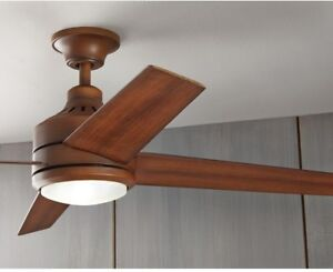 Image Is Loading 52 In Led Indoor Distressed Koa Wood Ceiling