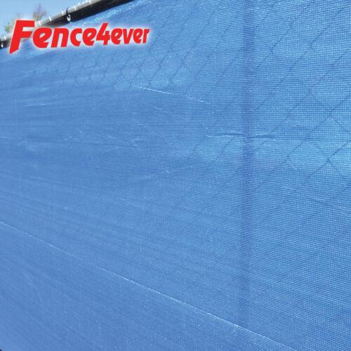 Blue 6/'x50/' Fence Privacy Screen Windscreen Shade Cover Mesh Fabric Tarp Pool