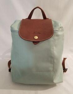 219d0795de5 Longchamp Paris Le Pliage Backpack Mint Green Nylon Ladies Folding ...