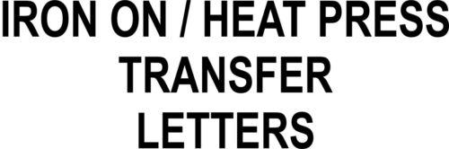 Heatpress 2 inch letters Custom Iron On T-Shirt Transfers Various packs